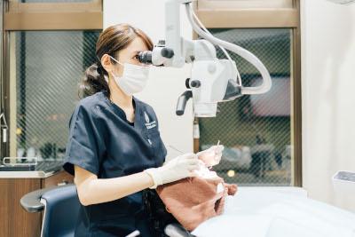 CT・拡大顕微鏡で精密治療