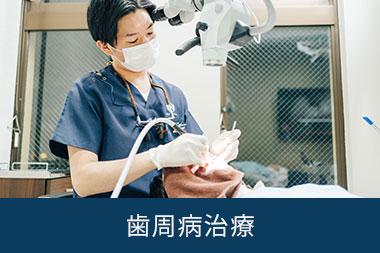 歯周病の治療をする歯科医師